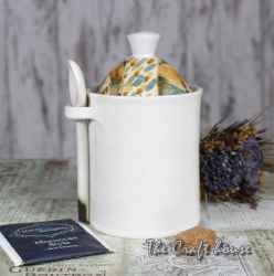Ceramic sugar bowl 'Rug'