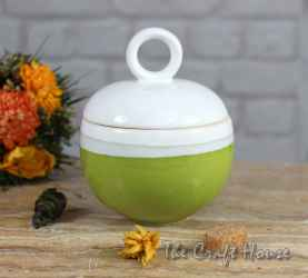 Porcelain sugar bowl