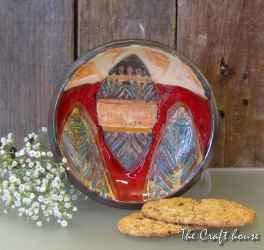 Керамична чинийка за сладки