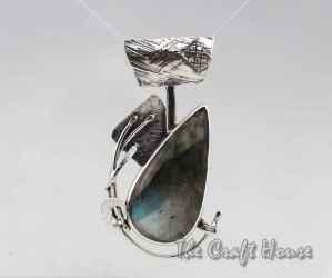 Сребърен медальон с Лабрадорит