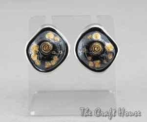 Silver earrings with gold plating