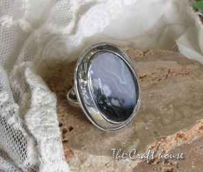 Silver ring with Agate