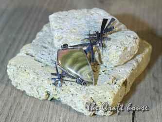 Сребърен медальон с Яспис