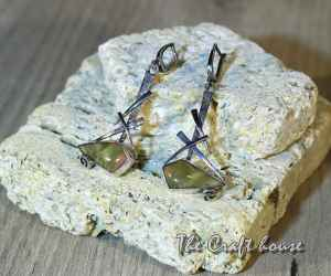Сребърни обеци с Яспис