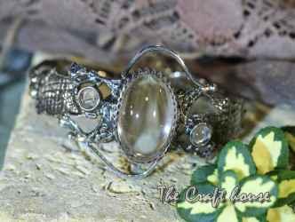 Сребърна гривна с Планински кристал